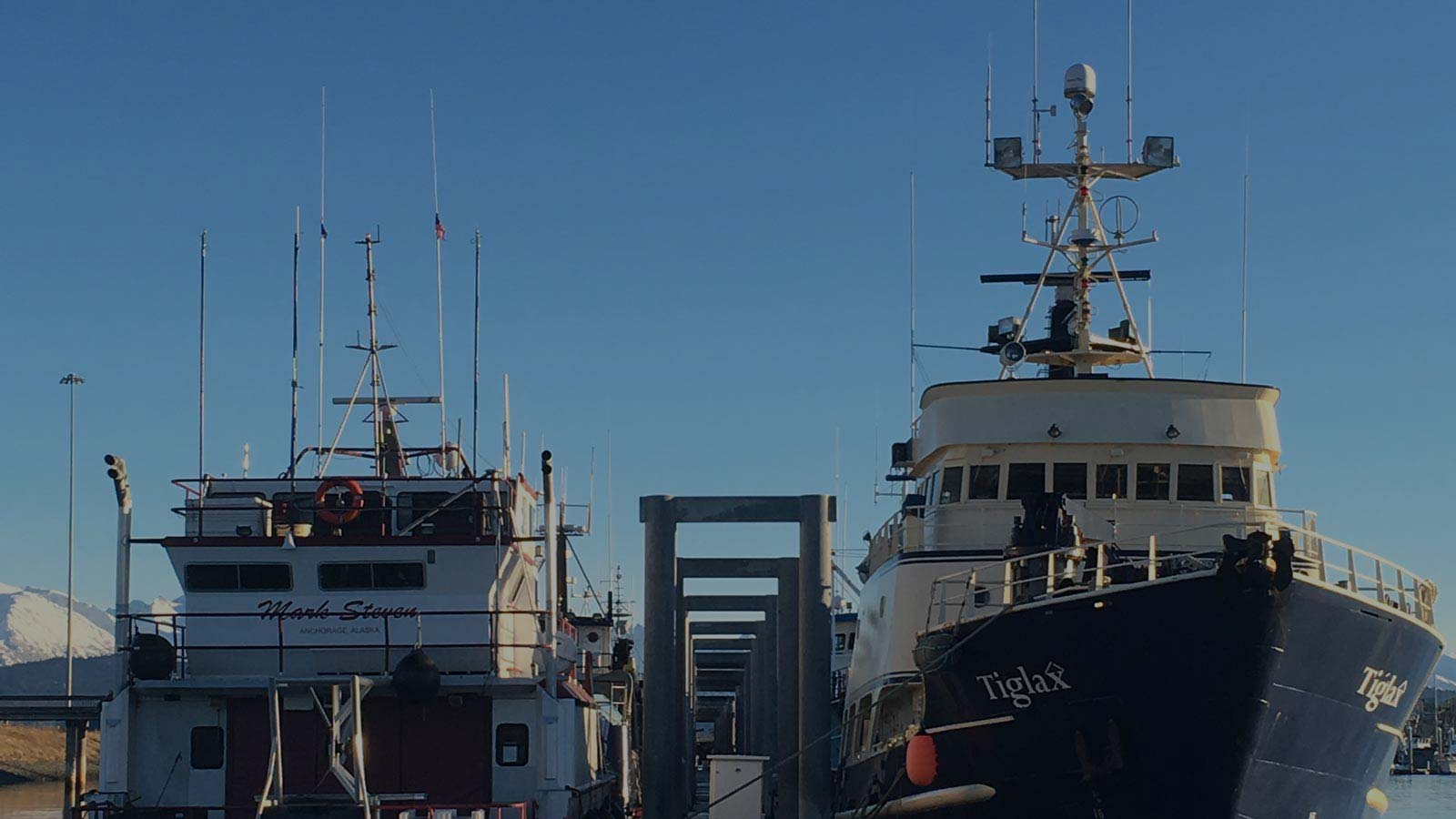 Two boats in Homer, Alaska are shown with the latest Garmin electronics from South Central Radar,